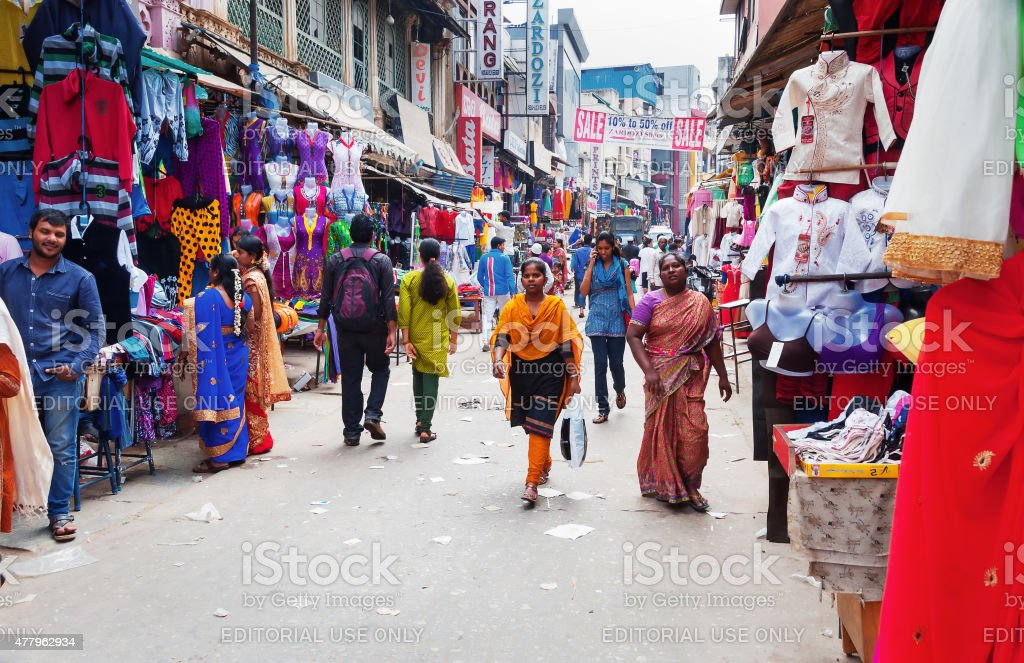 Russell Market in Bangalore stock photo