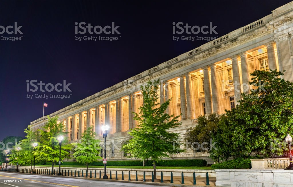 Russell Senate Office Building in Washington DC stock photo