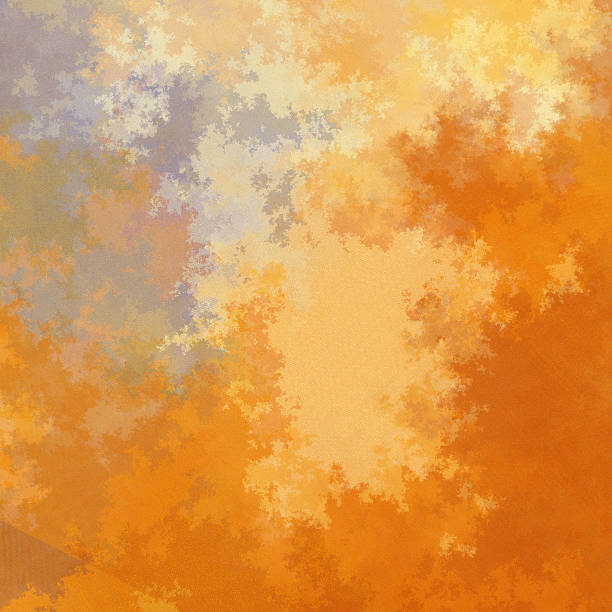 pastel autumn coloured fractured fractal pattern - whiteway fractal stock photos and pictures