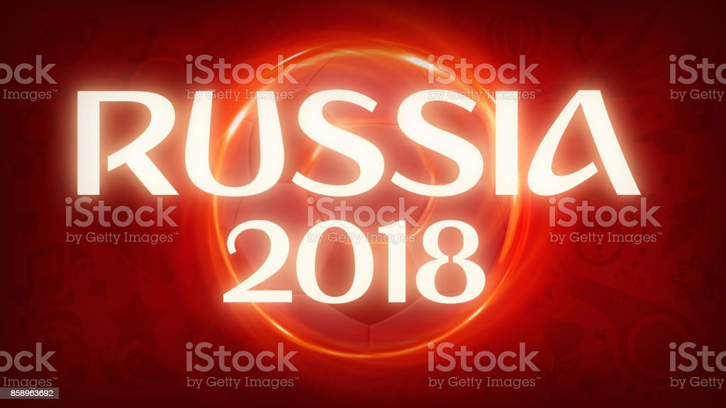Russia 2018 Banner stock photo