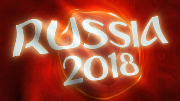 Russia 2018 Football Soccer Banner stock photo