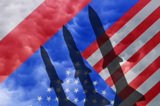 Russia and america rocket – zdjęcie