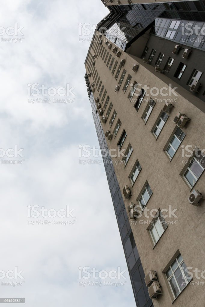 Russia, Chelyabinsk, st. Labor, 17 May 2018 high-rise residential building stock photo