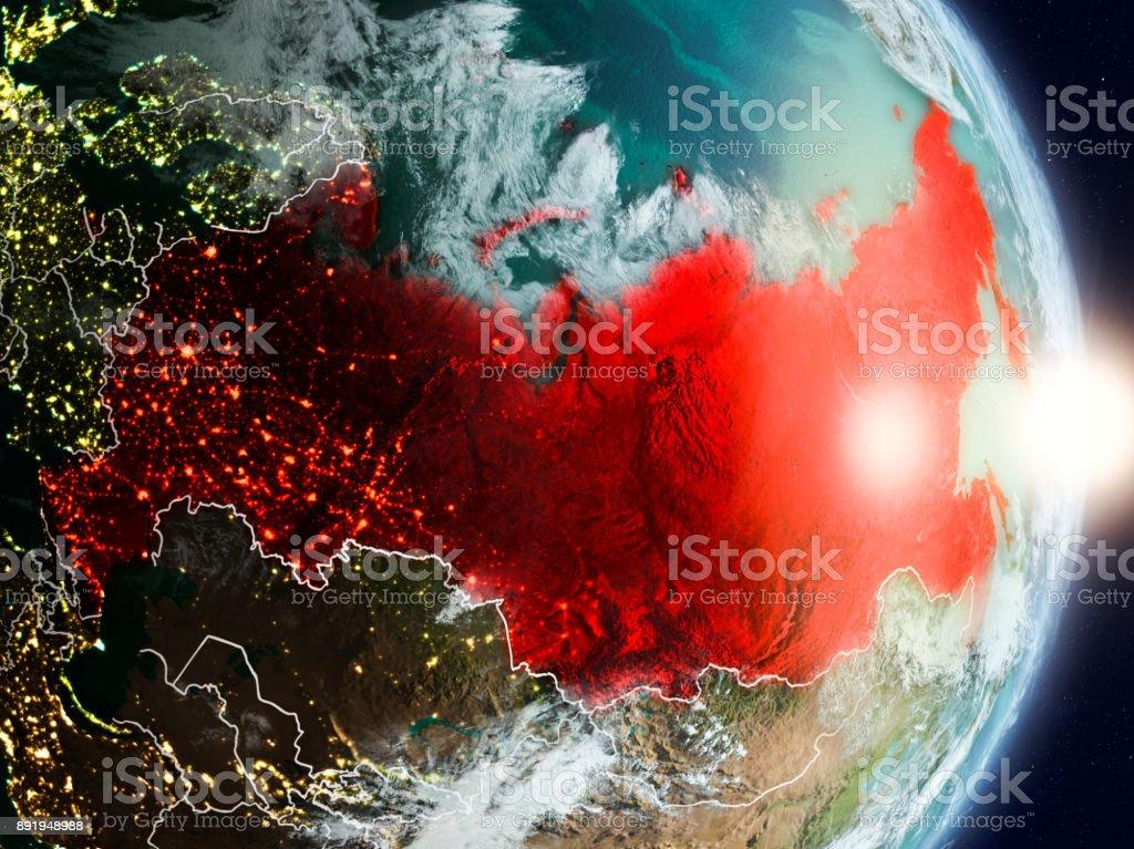 Russland bei Sonnenaufgang – Foto
