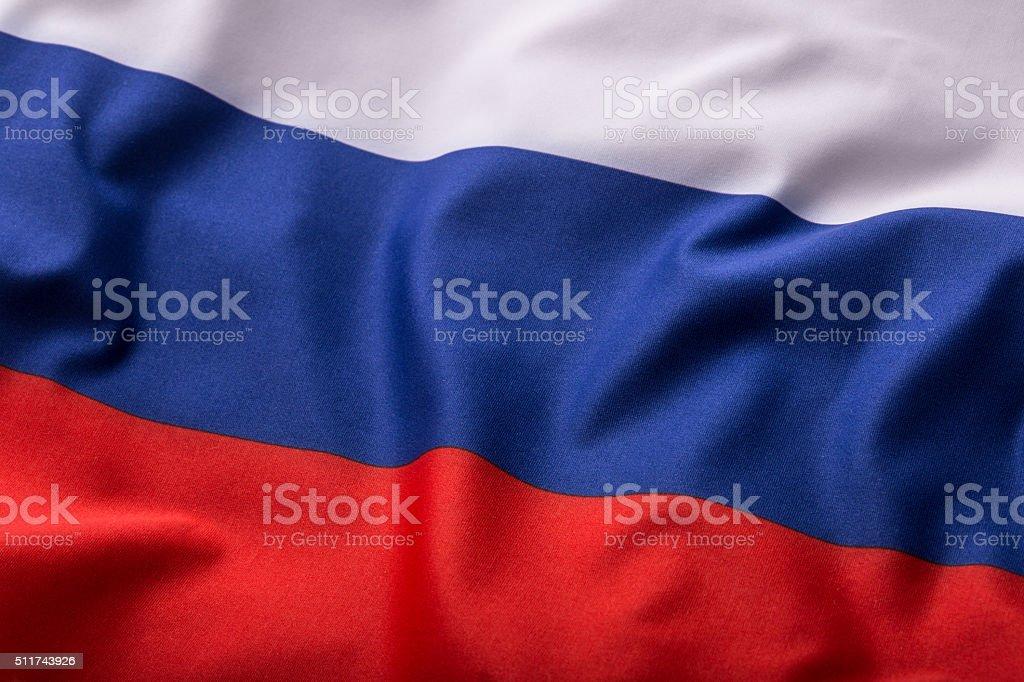 Russland Flagge. Farbenfrohen Russland-Flagge Winken – Foto