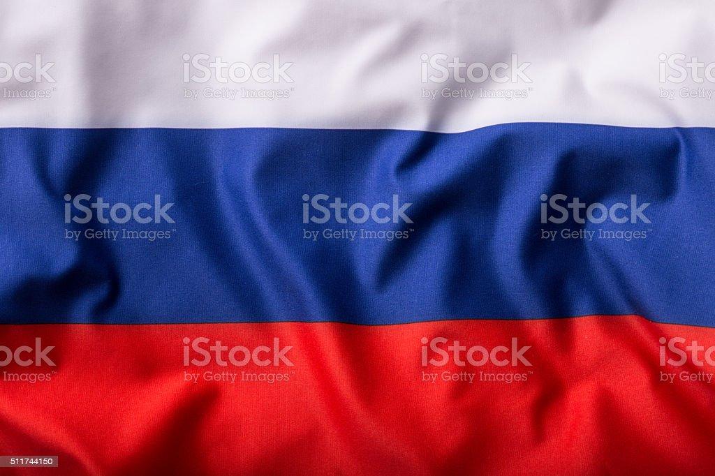Bandeira da Rússia. Acenando a bandeira colorida Rússia - foto de acervo
