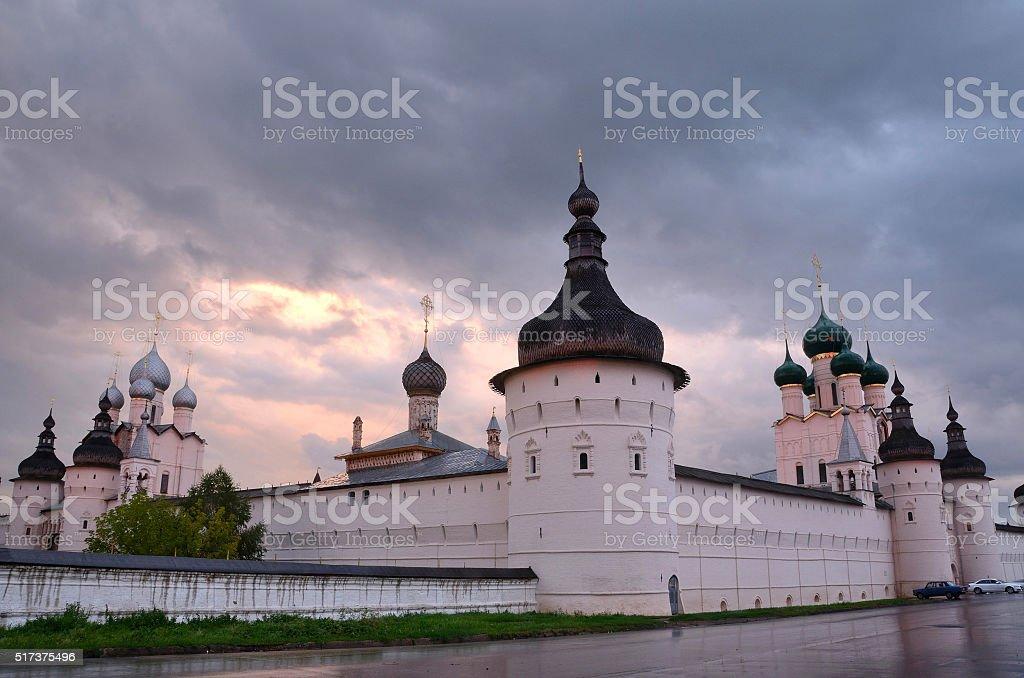 Russia, Kremlin in evening in Rostov stock photo