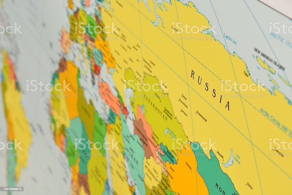 Russia Map - Royalty-free Austria Stock Photo