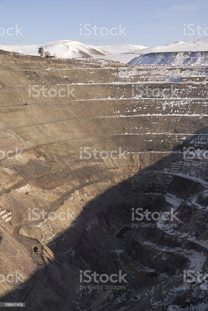 Russia. Old derelict uranium quarry stock photo