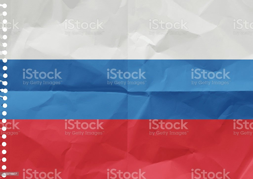 Russia on a piece of paper royalty-free stock photo