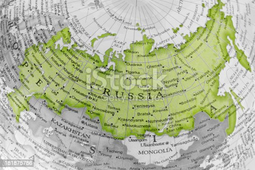 Russia. Detail of a globe.To see more Globes images click on the link below: