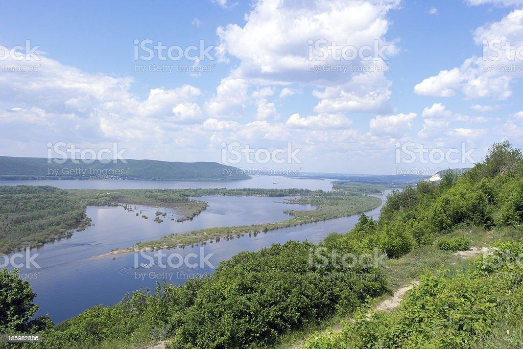 Russia, Samara city, great river Volga stock photo
