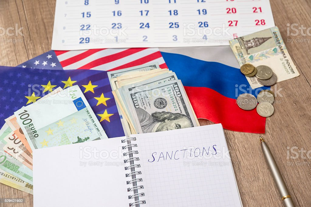 russia sanctions stock photo