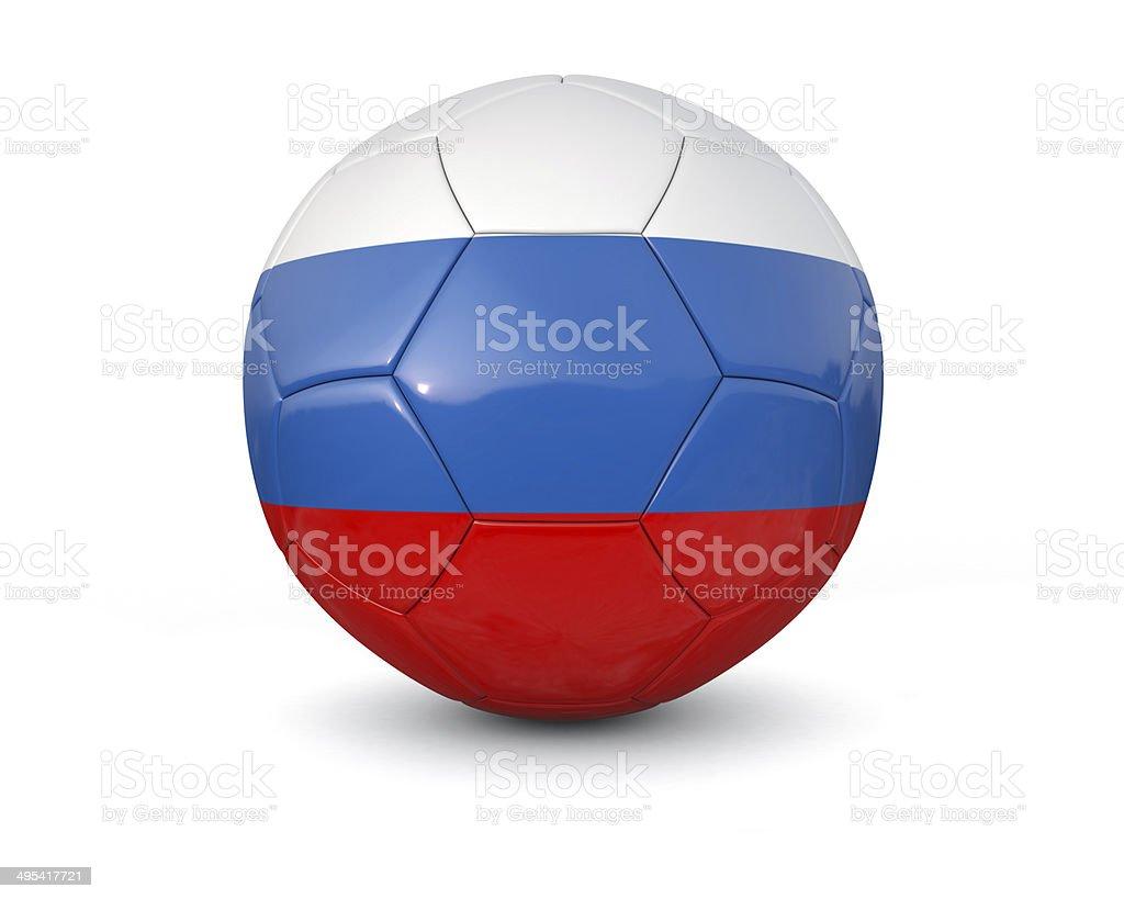 Russia soccer ball stock photo