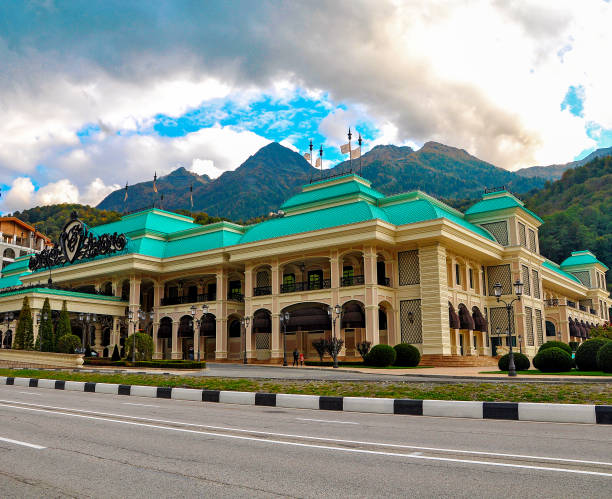 Russia, Sochi-Casino in the gambling zone of the Russian Federation Russia, Sochi-Casino in the gambling zone of the Russian Federation, Krasnaya Polyana sochi stock pictures, royalty-free photos & images