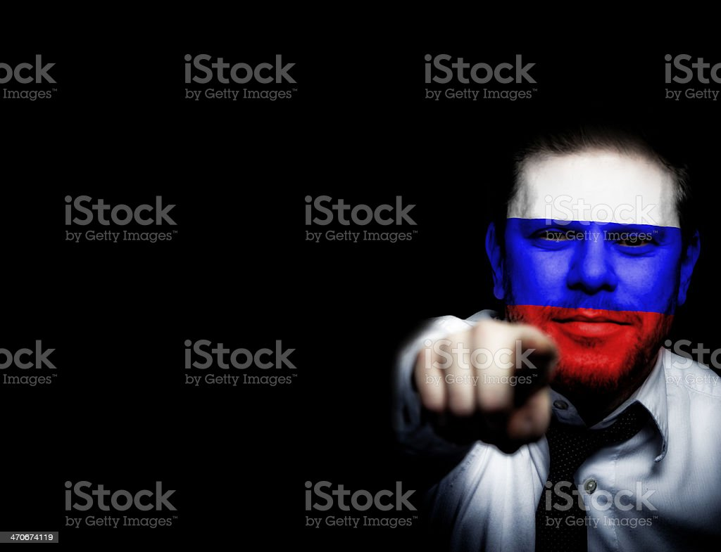 Russia Sport Soccer Fan royalty-free stock photo
