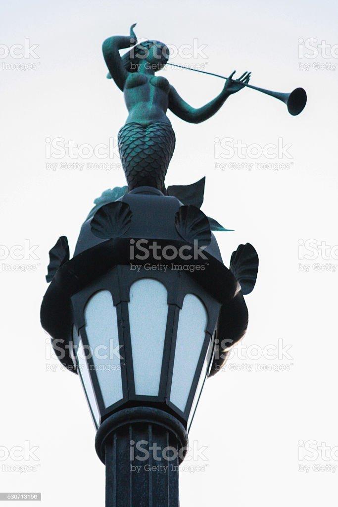 Russia, St. Petersburg, mermaid on a lamppost stock photo