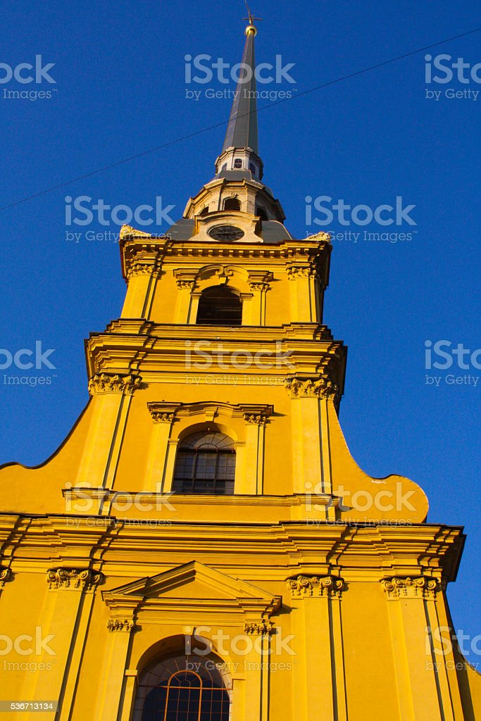 Russia, St. Petersburg. Peter and Paul fortress. stock photo