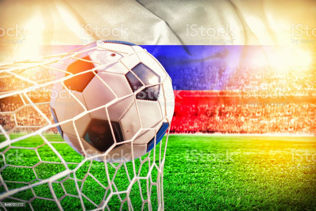 russia stadium soccer 2018 background stock photo