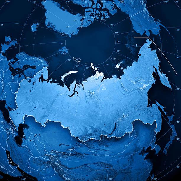 Russia Topographic Map stock photo