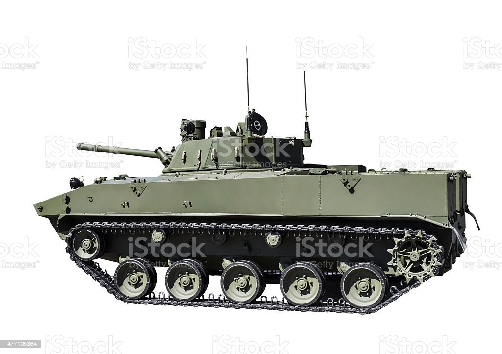 Russian airborne fighting vehicle stock photo