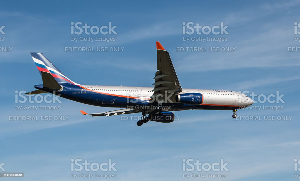 Russian Airlines Aeroflot plane stock photo
