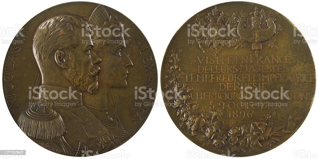 Russian antique locket royalty-free stock photo