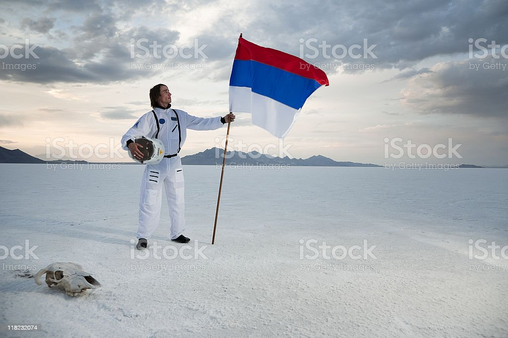Russian Astronaut stock photo