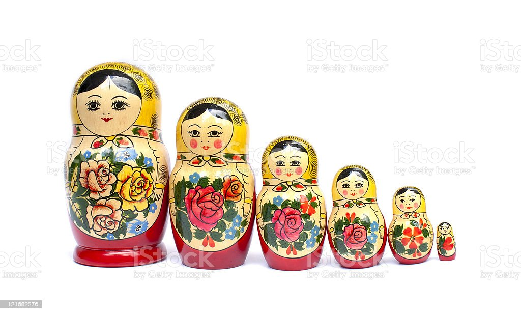 russian babushka nesting dolls royalty-free stock photo