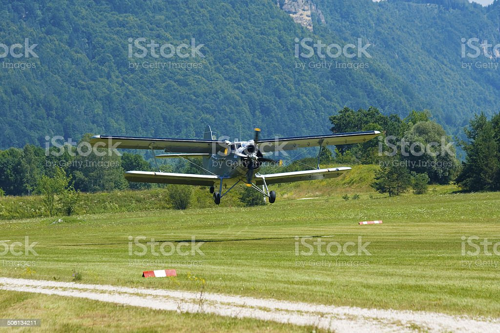 Russian Biplane Antonov stock photo
