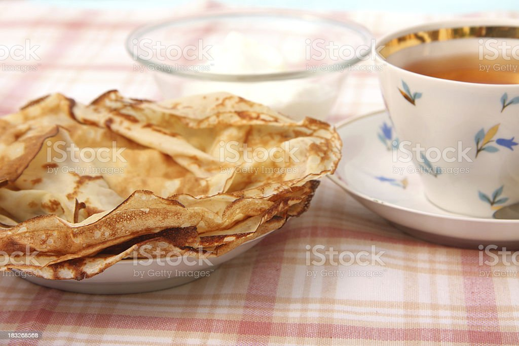 Russian blini royalty-free stock photo