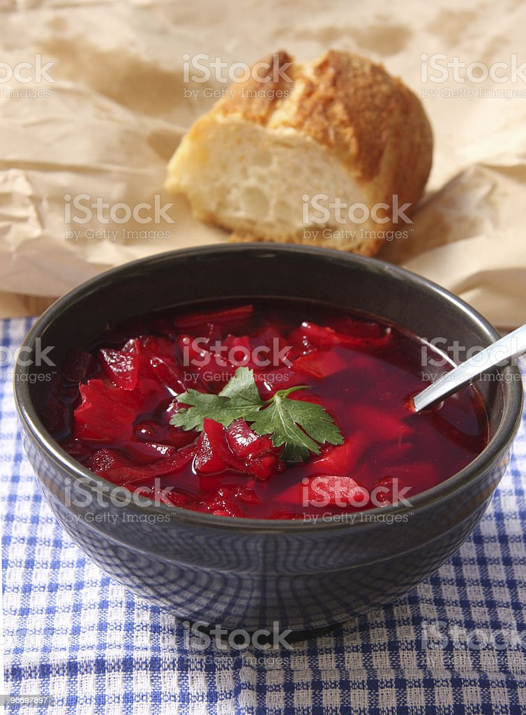 Russian Borscht stock photo