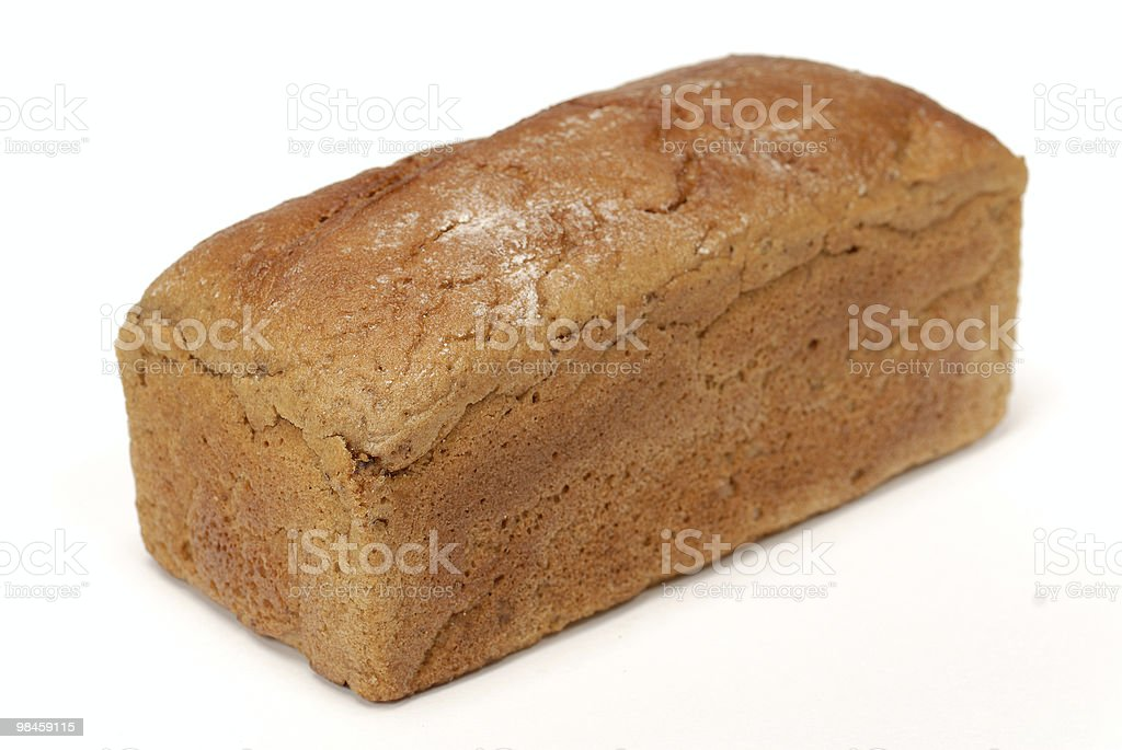 Russian bread (baton) isolated over white background royalty-free stock photo