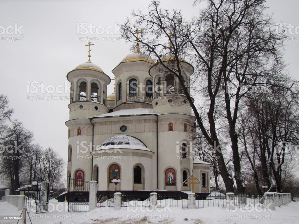 Russian Church In Winter Stock Photo Download Image Now