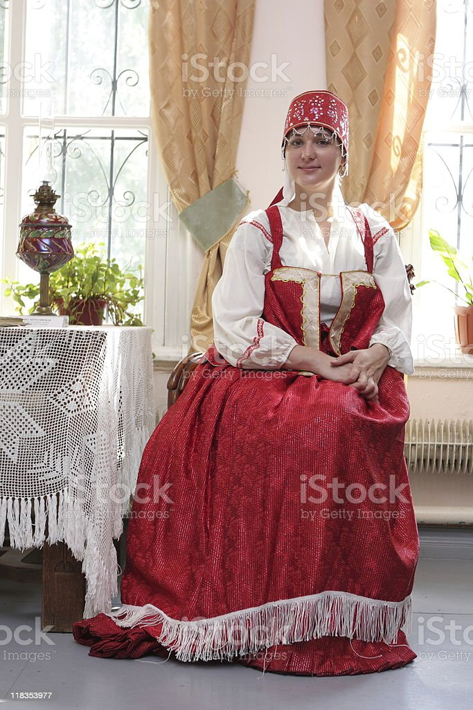 Russian costume royalty-free stock photo