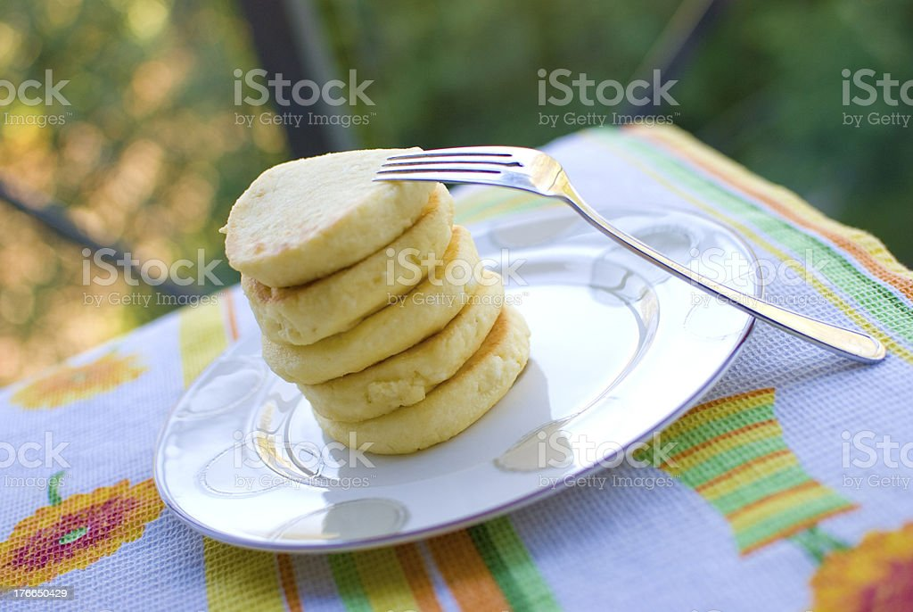 Russian Cottage Cheese Cakes / Сырники royalty-free stock photo