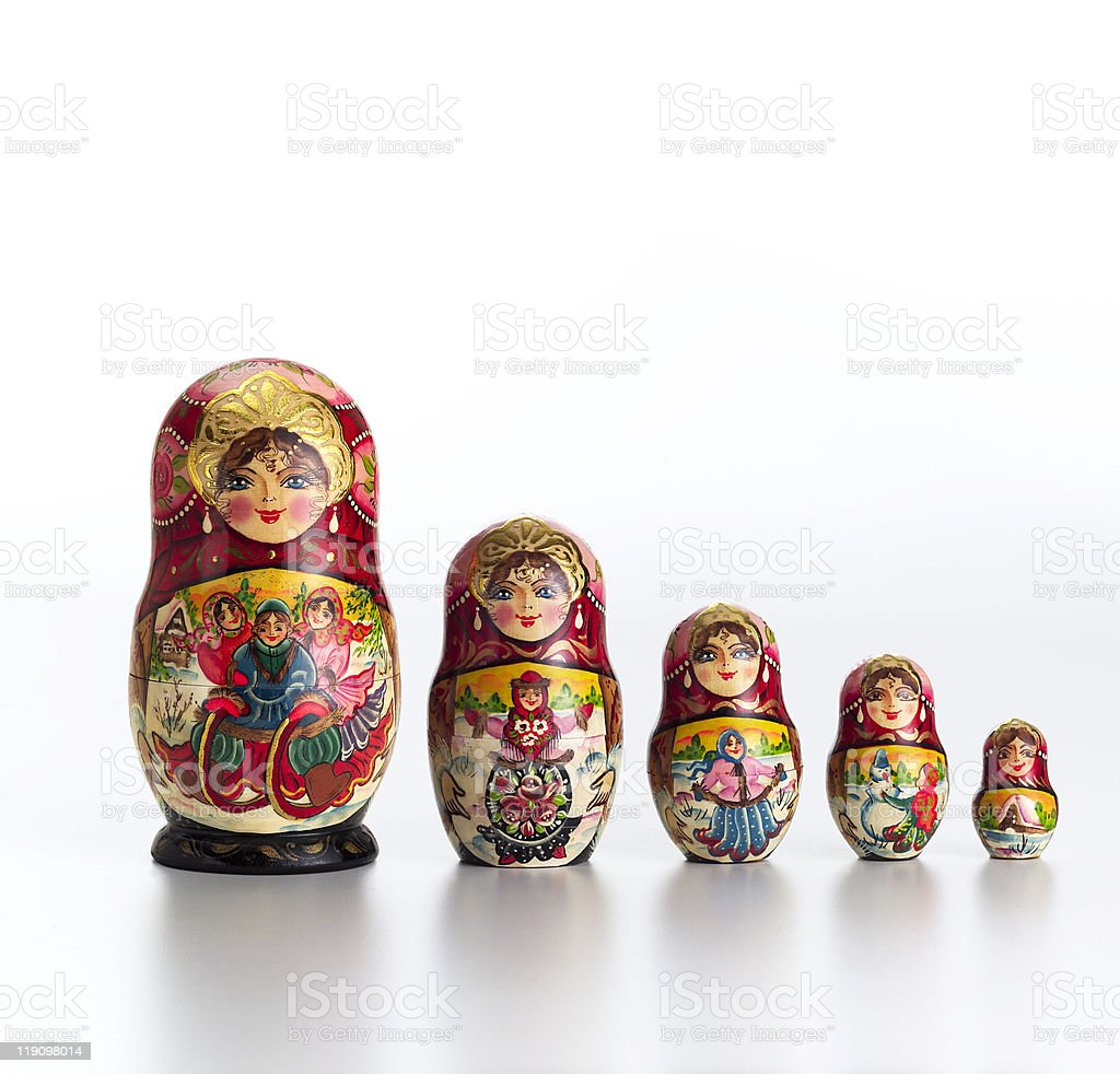 Russian doll 2 royalty-free stock photo