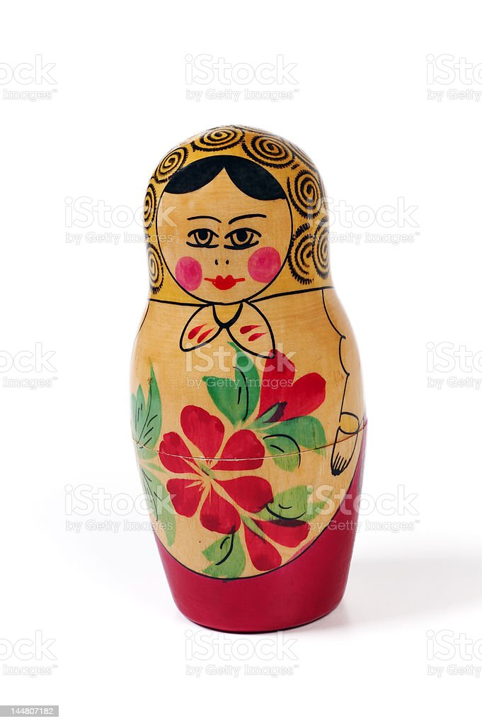 Russian doll isolated on white background royalty-free stock photo