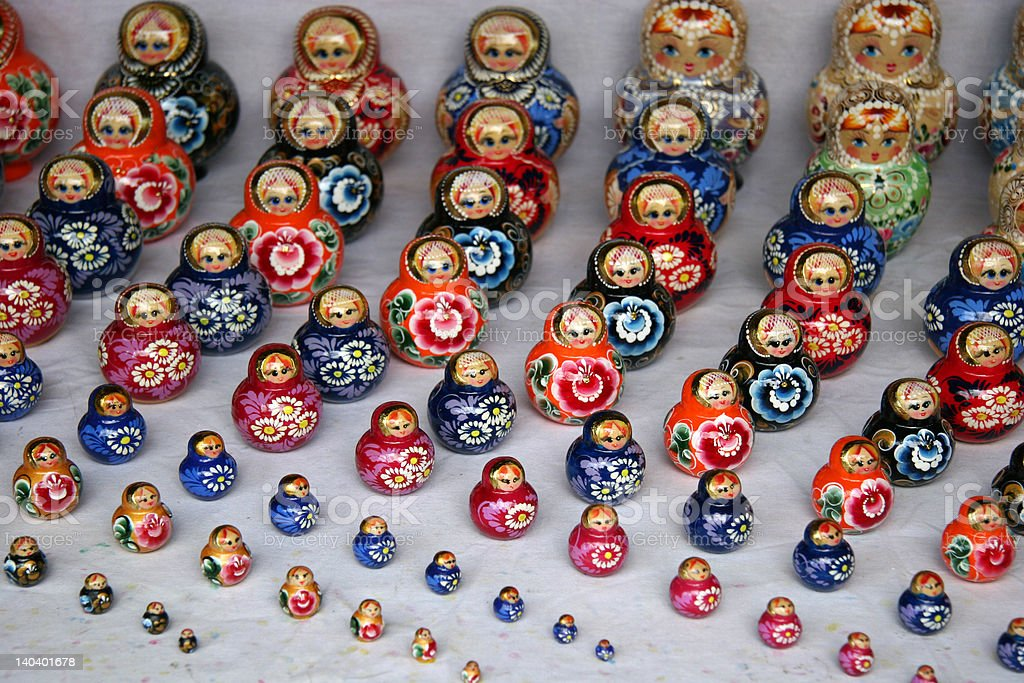 Russian Doll (2) stock photo