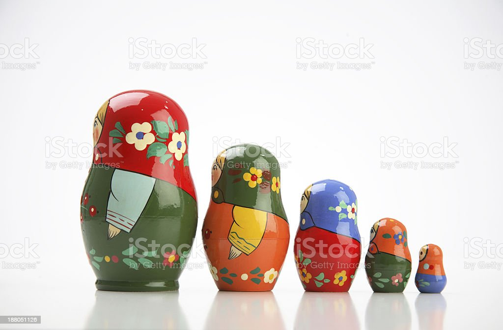 Russian doll royalty-free stock photo