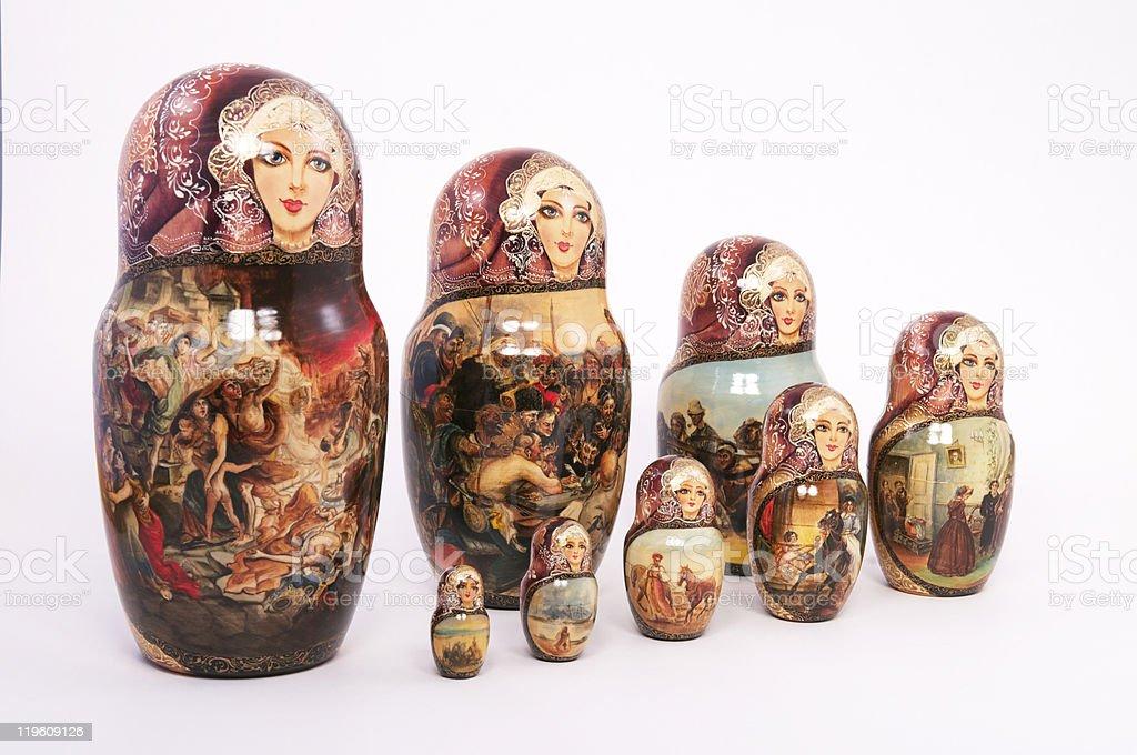 Russian Doll Set stock photo