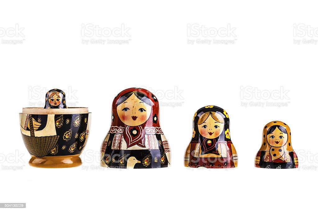 Russian dolls family royalty-free stock photo