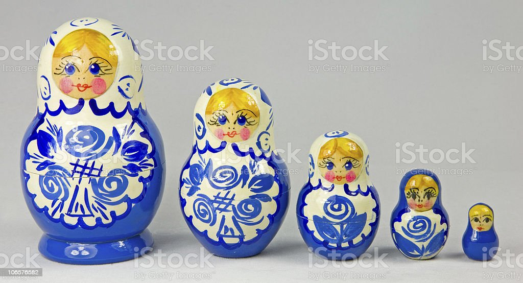 Russian Dolls from St Petersburg stock photo