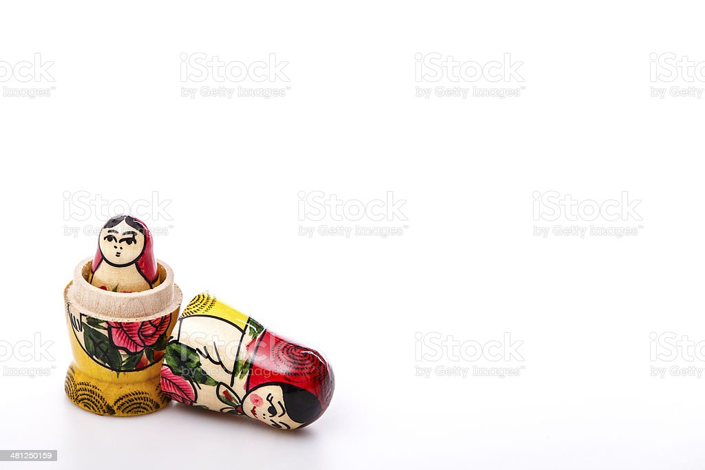 Russian Dolls Matryoshka Isolated on a white background stock photo