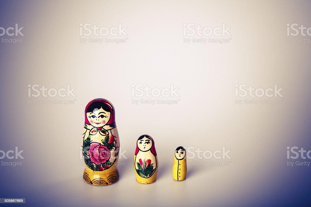 Russian Dolls Matryoshka Isolated on a white background stock photo