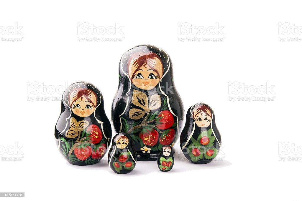 russian dolls - Matryoshka royalty-free stock photo