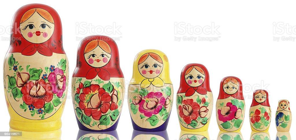 Russian Dolls stock photo