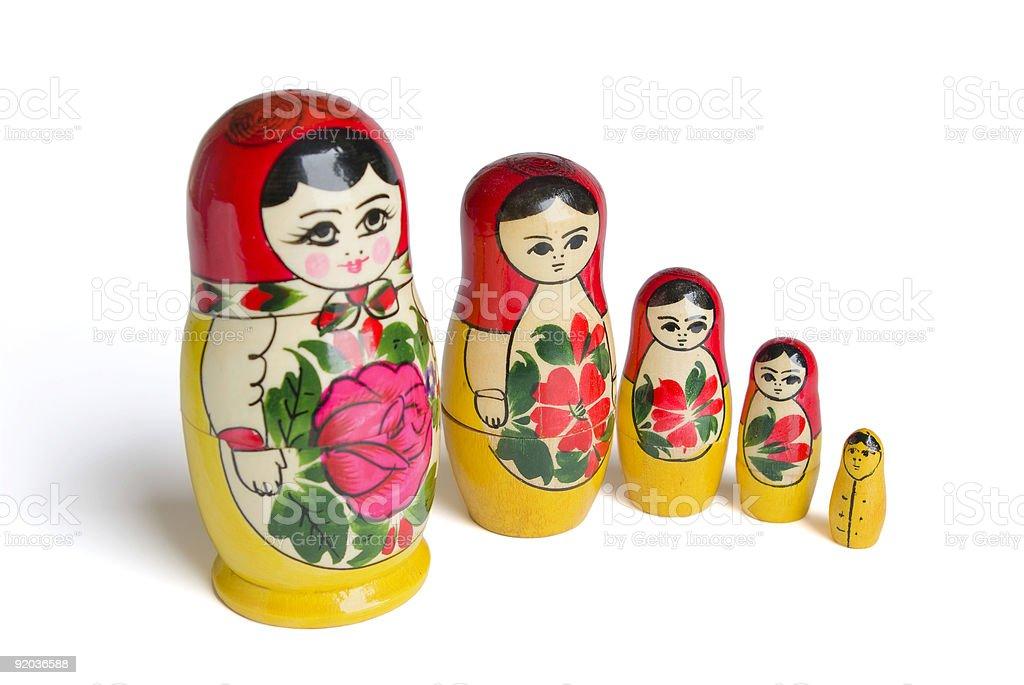 "Russian dolls - ""matrioska"" (modern). royalty-free stock photo"