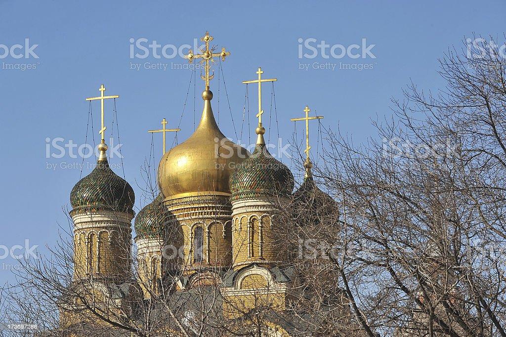 Russian domes stock photo