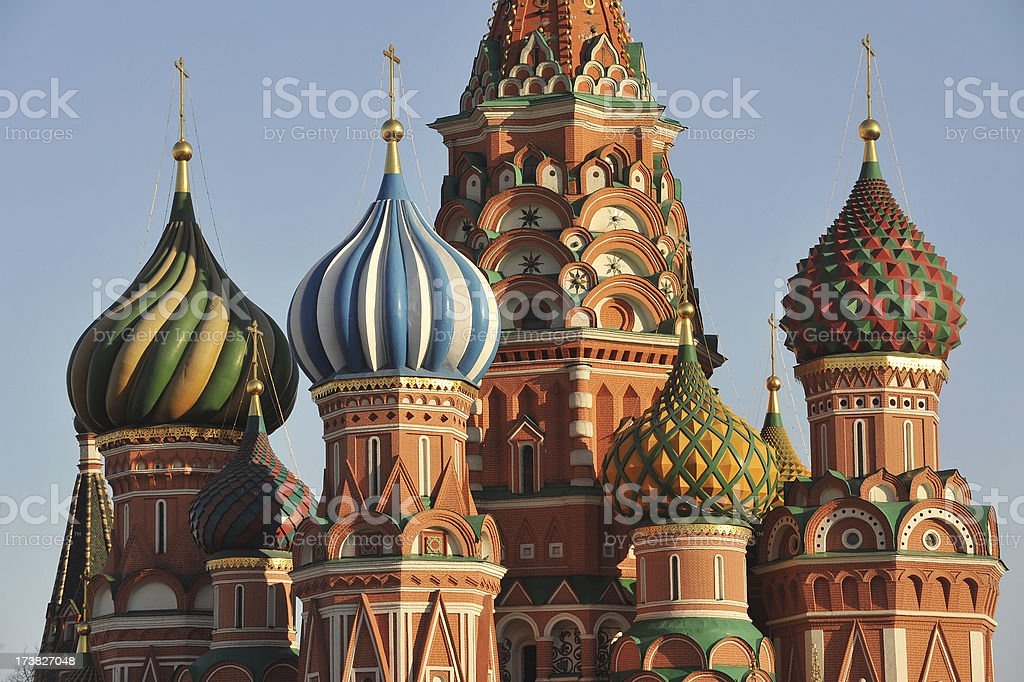 Russian domes royalty-free stock photo